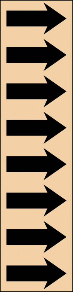 R 11 Tan Arrow Tape
