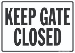 N-407 Keep Gate Closed