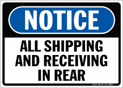 Shipping/Receiving in Rear