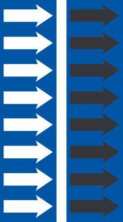 R 07 National Blue Arrow Tape