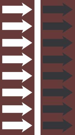 R 10 Chestnut Brown Arrow Tape
