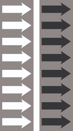 R 14 Grey Arrow Tape