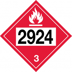 T-2924 Flammable Corrosive Liquid
