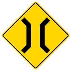 Narrow bridge Traffic Sign