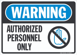 W-308 Authorized Personnel