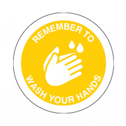 Wash Your Hands Contact Point Decals